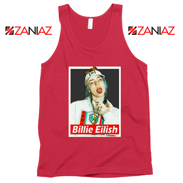 Billie Eilish Womens Red Tank Top