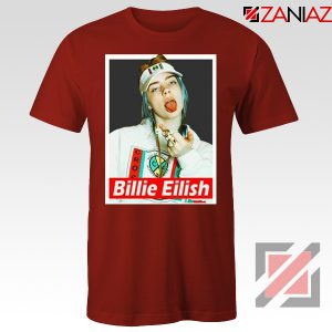 Billie Eilish Womens Red Tshirt