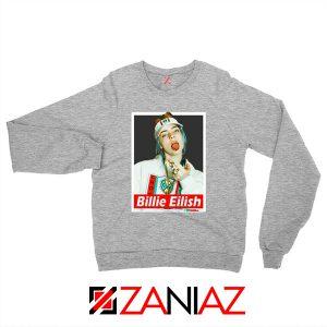 Billie Eilish Womens Sport Grey Sweatshirt