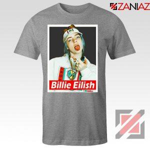 Billie Eilish Womens Sport Grey Tshirt