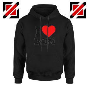 Buy I Love RiRi Black Hoodie