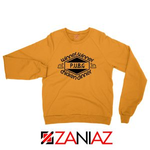 Buy Winner Winner Chicken Dinner Orange Sweatshirt