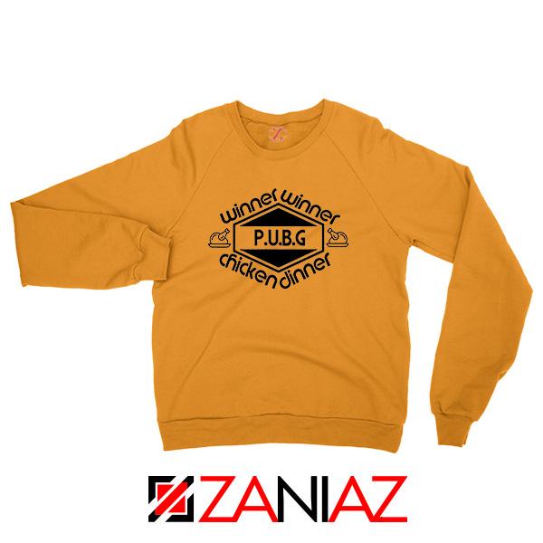 Buy Winner Winner Chicken Dinner Orange Sweatshirt