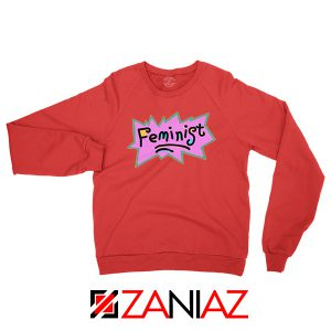 Cheap Feminist Rugrats Red Sweatshirt