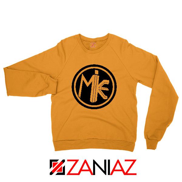 Cheap Mike Circle Orange Sweatshirt