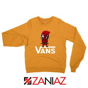 Cheap Van Deadpool Orange Sweatshirt