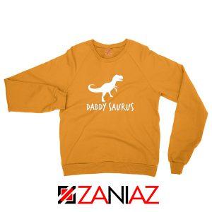 Daddy Saurus Orange Sweatshirt