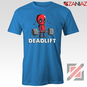 Deadpool Deadlift Blue Tshirt