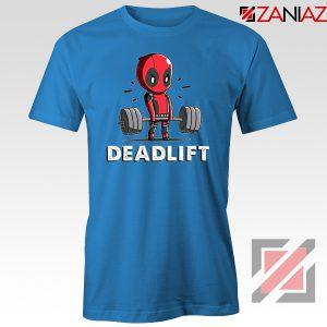 Deadpool Deadlift Blue Tshirt