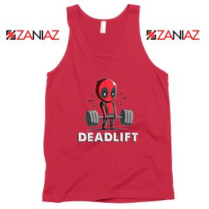 Deadpool Deadlift Red Tank Top