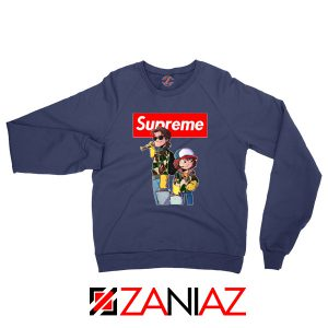 Dustin And Steve Stranger Things Navy Blue Sweater