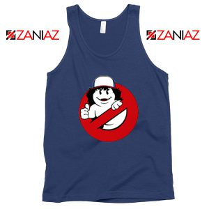 Dustin Ghostbusters Parody Navy Blue Tank Top