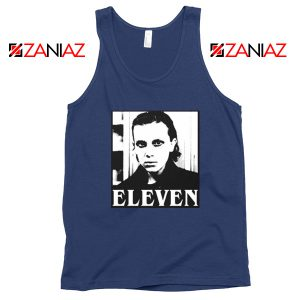 Eleven Stranger Things Graphic Navy Blue Tank Top