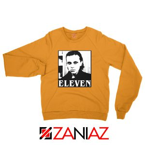 Eleven Stranger Things Graphic Orange Sweatshirt