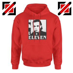 Eleven Stranger Things Graphic Red Hoodie