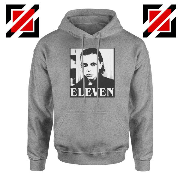 Eleven Stranger Things Graphic Sport Grey Hoodie