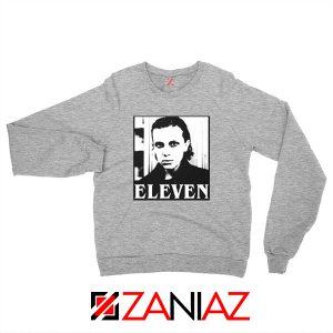 Eleven Stranger Things Graphic Sport Grey Sweatshirt