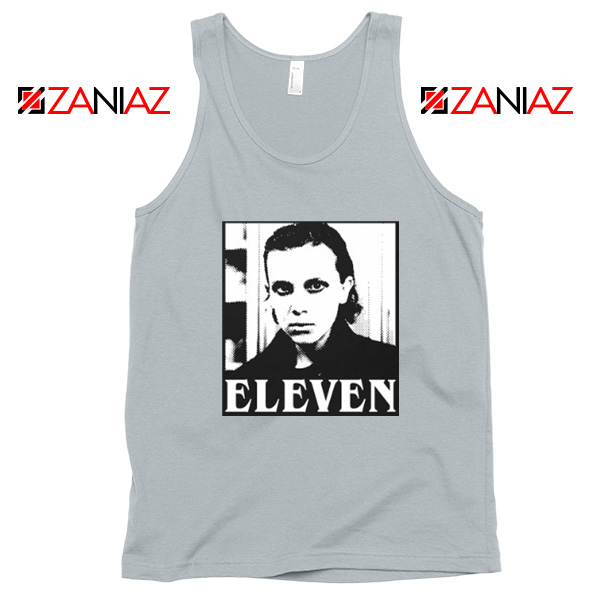 Eleven Stranger Things Graphic Sport Grey Tank Top