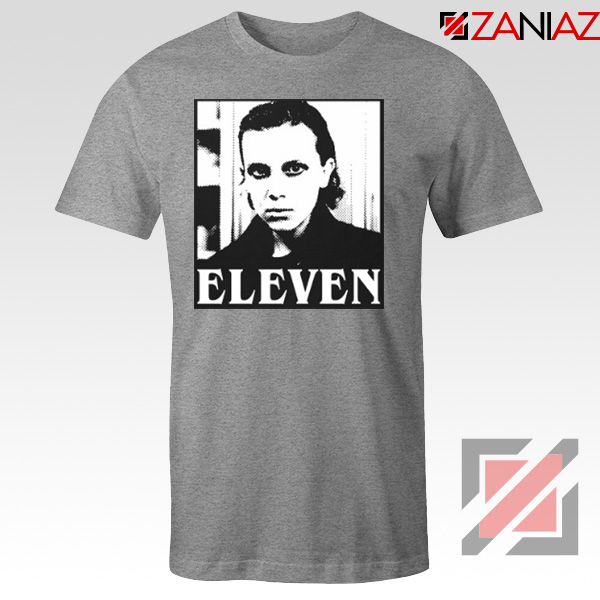 Eleven Stranger Things Graphic Sport Grey Tshirt