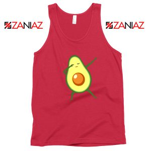 Funny Dabbing Avocado Red Tank Top