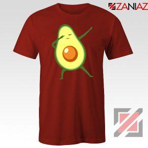 Funny Dabbing Avocado Red Tshirt