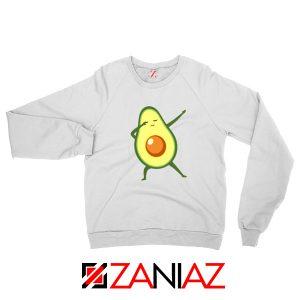 Funny Dabbing Avocado White Sweatshirt