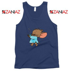 Jerry Sleepwalking Navy Blue Tank Top