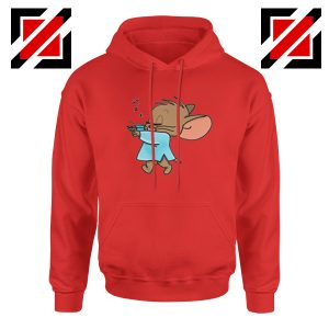 Jerry Sleepwalking Red Hoodie