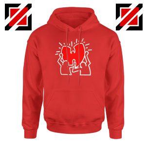 Keith Haring Rapper Red Hoodie