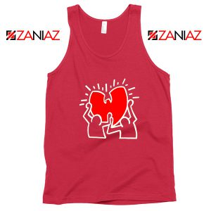 Keith Haring Rapper Red Tank Top