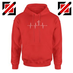 My Heartbeat Is The Cross Red Hoodie