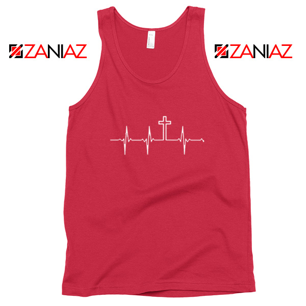 My Heartbeat Is The Cross Red Tank Top