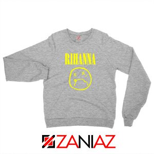 Nirvana Rihanna Sport Grey Sweatshirt