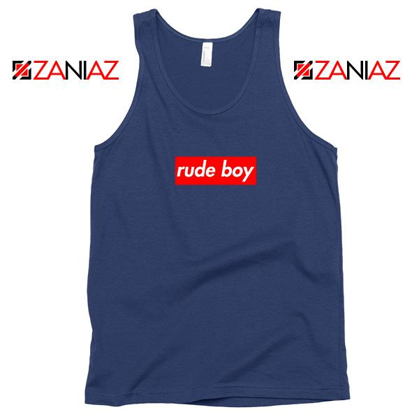 Rude Boy Rihanna Navy Blue Tank Top