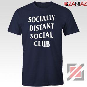 Socially Distant Social Club Navy Blue Tshirt