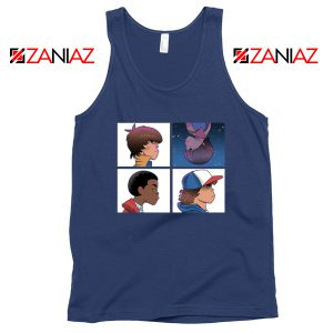 Stranger Things Characters Navy Blue Tank Top
