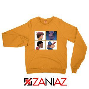 Stranger Things Characters Orange Sweater
