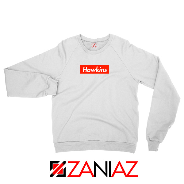 Stranger Things Hawkins White Sweatshirt