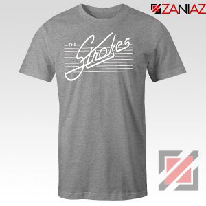 The Strokes Band Sport Grey Tshirt