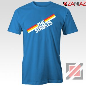 The Strokes Striped Graphic Blue Tshirt