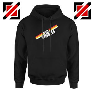 The Strokes Striped Graphic Hoodie