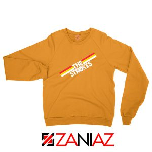 The Strokes Striped Graphic Orange Sweatshirt