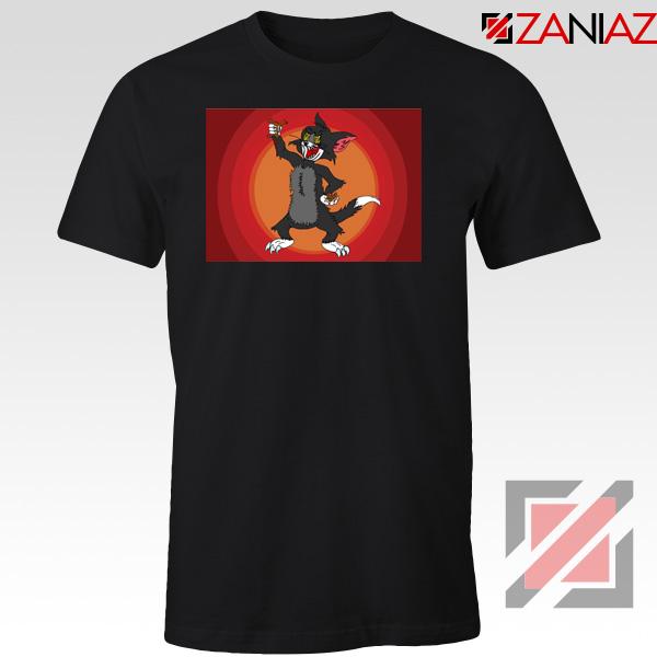 Tom The Cat Wins Black Tshirt
