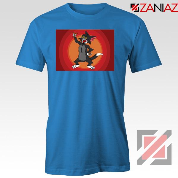 Tom The Cat Wins Blue Tshirt