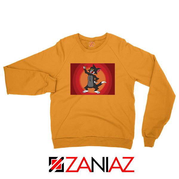 Tom The Cat Wins Orange Sweatshirt
