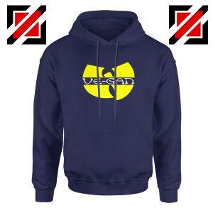 Vegan Logo Wu Tang Clan Navy Blue Hoodie
