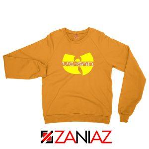 Vegan Logo Wu Tang Clan Orange Sweater