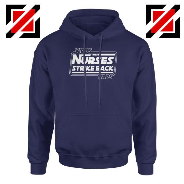 Virus The Nurses Strike Back Wars Navy Blue Hoodie