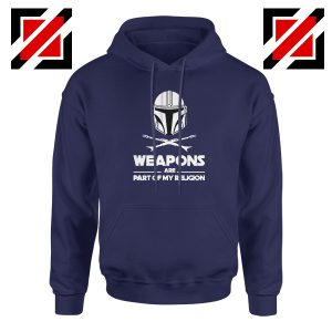 Weapons Are Part Of My Religion Mando Navy Blue Hoodie
