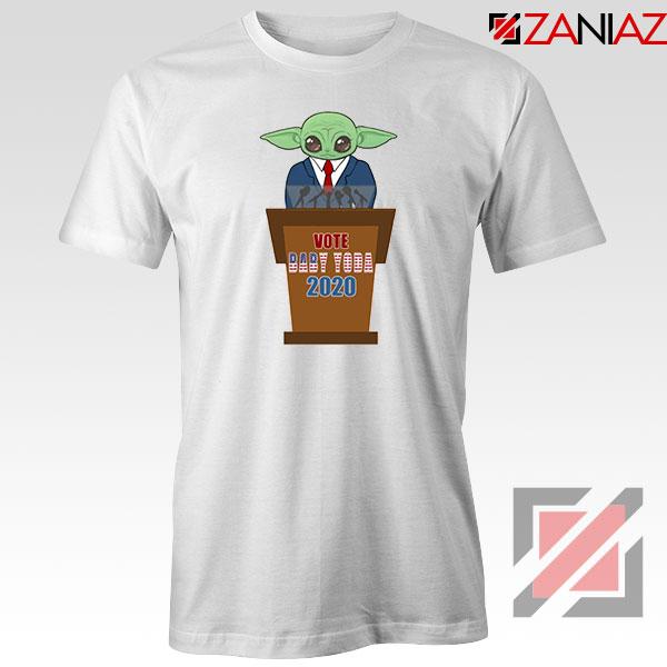 Vote Baby Yoda 2020 White Tshirt